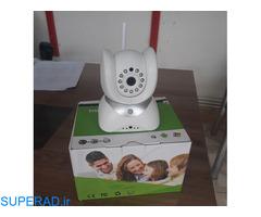 دوربین 360 درجه و گردان کنترل اتاق کودک