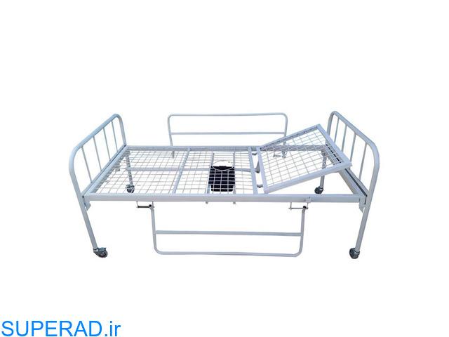 تخت بیمار فلزی یک شکن