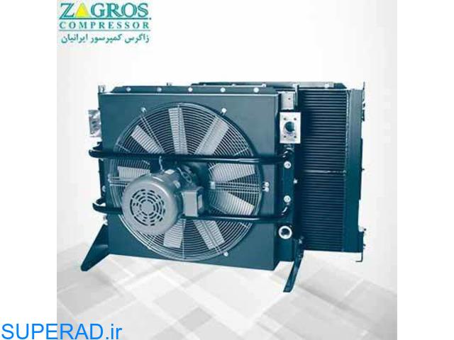 تامین و تعمیر رادیاتور کمپرسور اسکرو (رادیاتور هوا و روغن)