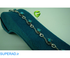 دستبند نقره فیروزه نیشابور اشکی کد816