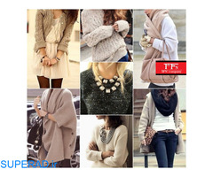 فروش عمده لباس های بافت  و پاییزه زنانه