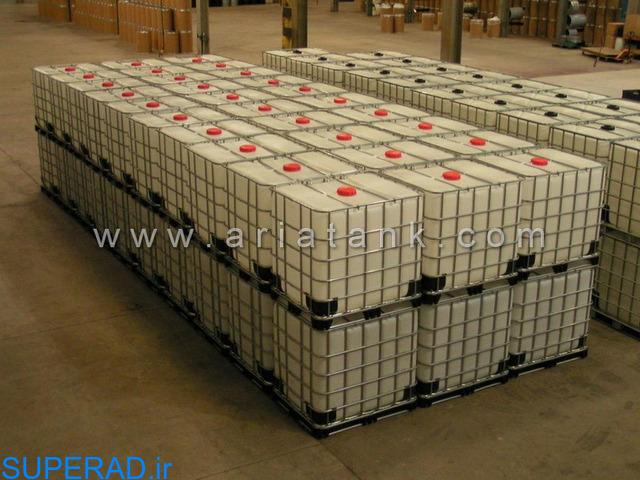 تولید مخازن پلی اتیلن حفاظ دار IBC